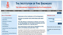 Institution of Fire Engineers website